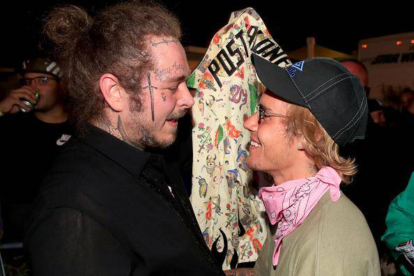 Post Malone und Justin Bieber am Coachella 2018 (© Getty Images)