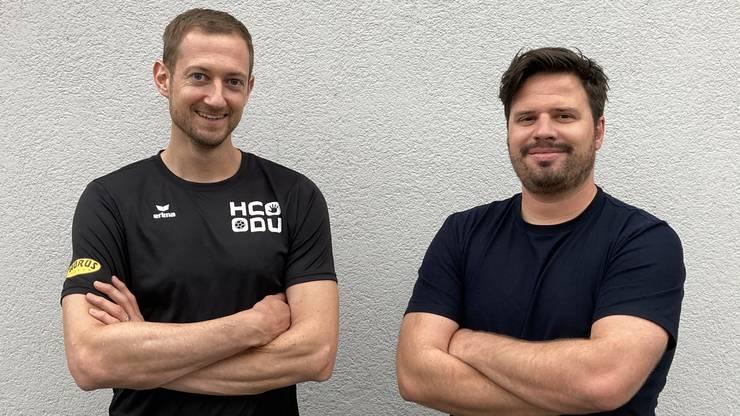 Daniel Schütterle (links) und Tobias Schoch haben neu das Sagen im 2.-Liga-Team des HC Dietikon-Urdorf.
