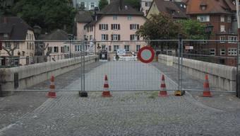 Während der ersten Coronawelle im Frühling 2020 war der Grenzübergang Laufenburg gesperrt.