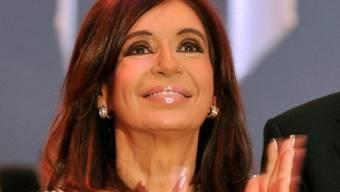 Kirchner kann mit ihrer Wiederwahl bei den Präsidentschaftswahlen rechnen (Archiv)