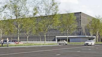 Das neue Parkhaus soll zwischen der Tellstrasse (vorne) und der Südallee errichtet werden. Anderthalb Geschosse würden in den Boden versenkt.