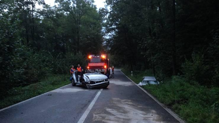 Zum Unfall kam es um 18.30 Uhr auf der Köllikerstrasse bei Gretzenbach.