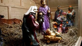 Der Grund für Weihnachten: Die Geburt des Jesuskindes in der Krippe im Jahre null in Bethlehem.