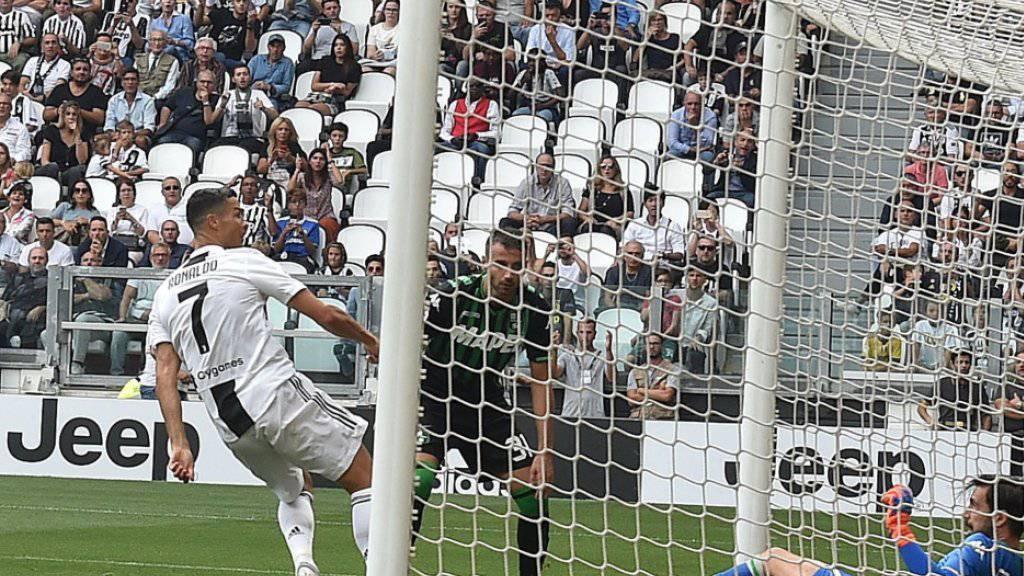 Cristiano Ronaldo trifft aus kurzer Distanz erstmals für Juventus Turin