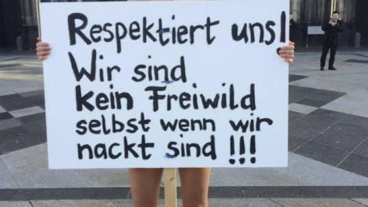 respektiert uns wir sind kein freiwild