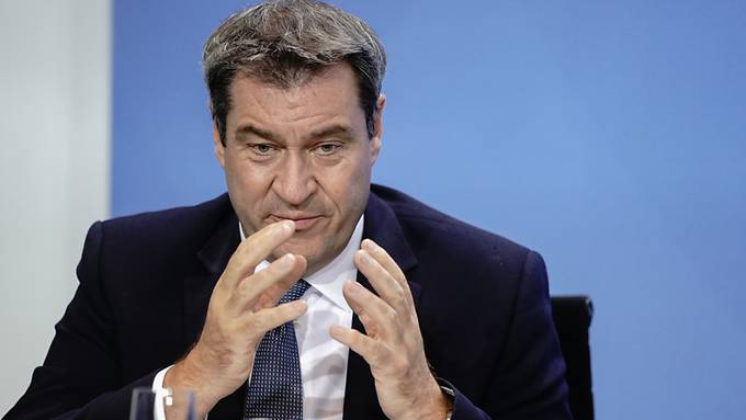 Markus Söder (CSU), Ministerpräsident von Bayern und CSU-Vorsitzender, sagt, dass zu Weihnachten bis zu 20'000 Fälle am Tag möglich sind.