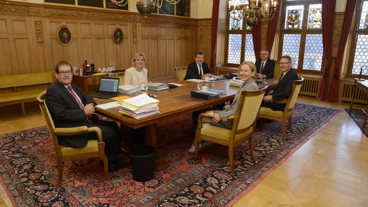 Erste Sitzung des Solothurner Regierungsrats in der Legislatur 2017-2021