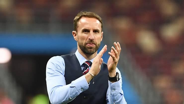 Nationalcoach Gareth Southgate will mit England das Spiel um den 3. Rang gegen Belgien gewinnen