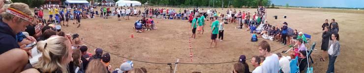 Das Spielfeld ist 8x5-Meter gross.