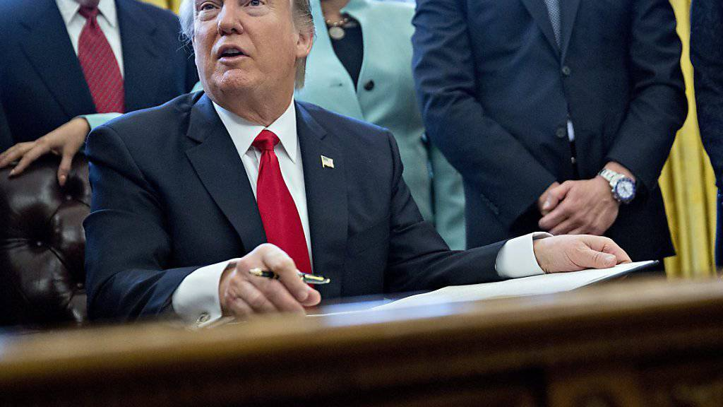 Trump erlässt seit seinem Amtsantritt Verordnungen im Schnelldurchlauf. Mit seiner Unterschrift besiegelte der US-Präsident sein Vorhaben, die Bürokratie zu schmälern.