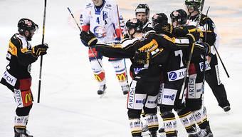 Luganos Spieler freuen sich, nicht so ZSC-Verteidiger Patrick Geering