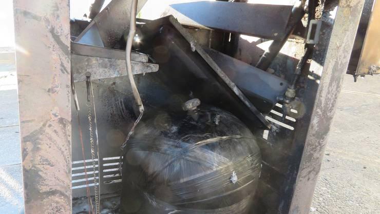 Ursache für den in Brand geratenen Gasgrill dürfte die Kunststoffgasflasche gewesen sein.