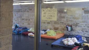 Im Untergeschoss der Matthäuskirche haben sich abgewiesene Asylbewerber niedergelassen.