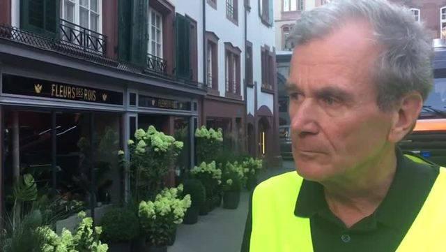 Staatsanwaltschaft-Sprecher Peter Gill gibt Auskunft zum Grosseinsatz in der Basler Innenstadt