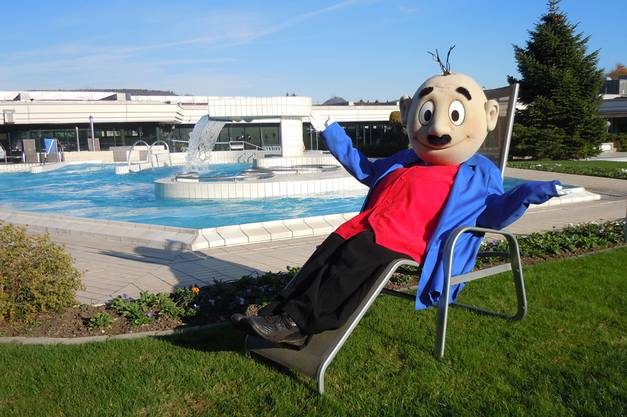 Papa Moll ist in Bad Zurzach allgegenwärtig: Sei es im Thermalbad, ...