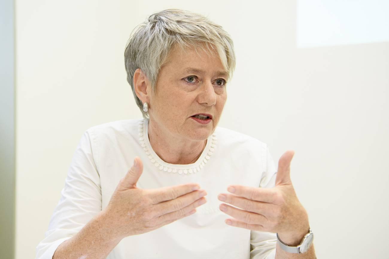 Jacqueline Fehr (SP) – Die Winterthurerin wäre auch schon beinahe Bundesrätin geworden. Seit vier Jahren ist sie im Kanton Zürich unter anderem für die Justiz zuständig. Ihre Wahl gilt als sicher. (© Keystone)