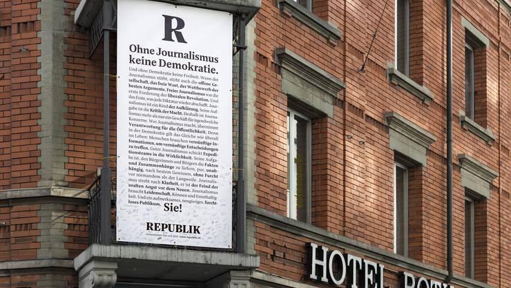 Im Hotel Rothaus in Zürich gab die «Republik» den Starschuss für ihr neues Online-Magazin. (Archivbild)