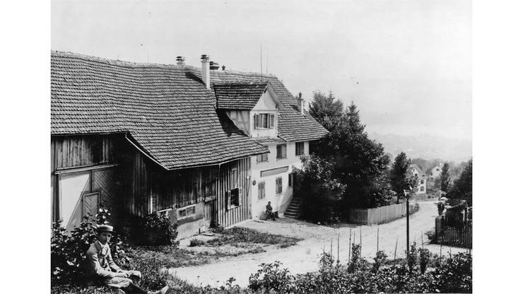 Ländlicher Charakter in Fluntern um 1895.