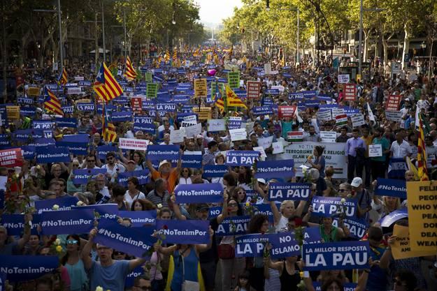 «Ich habe keine Angst»: Eine halbe Million Menschen demonstrieren gegen Terror.