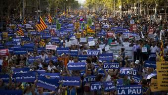 Demo gegen Terror in Barcelona