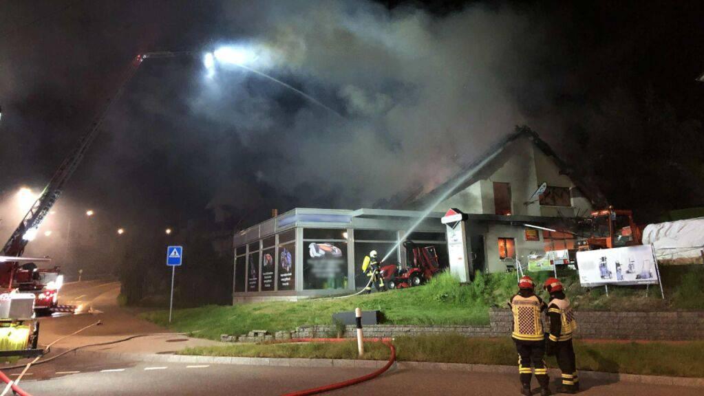 Die Feuerwehr konnte den Brand eindämmen.