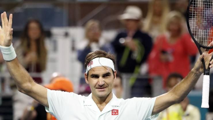 Roger Federer ist in Miami weiterhin sicher unterwegs