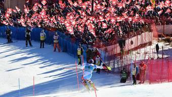 Daniel Yule beim Slalom in Adelboden Mitte Januar.