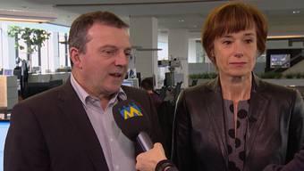Walter Wobmann, SVP-Nationalrat SO, und Ruth Humbel, CVP-Nationalrätin AG, zum Nein zur Durchsetzungsinitiative.