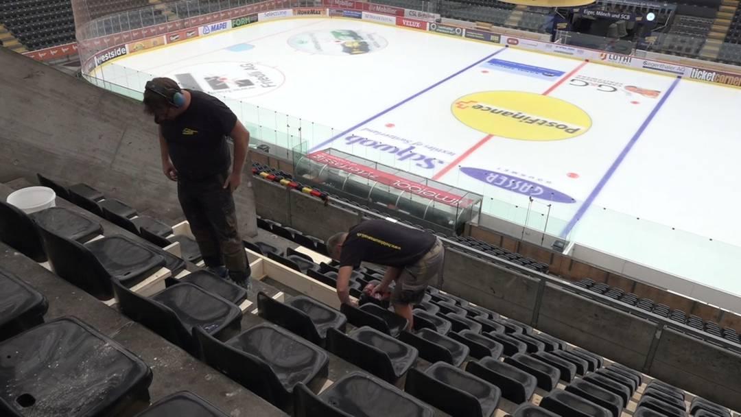 Aus Stehplätzen werden Sitzplätze – die Eishockeywelt baut um
