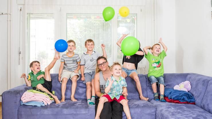 Ein Kinderparadies auf 92 Quadratmetern: In Ramona Allaz 4 1/2-Zimmer-Wohnung in Urdorf kann es hin und wieder turbulent zu und her gehen.