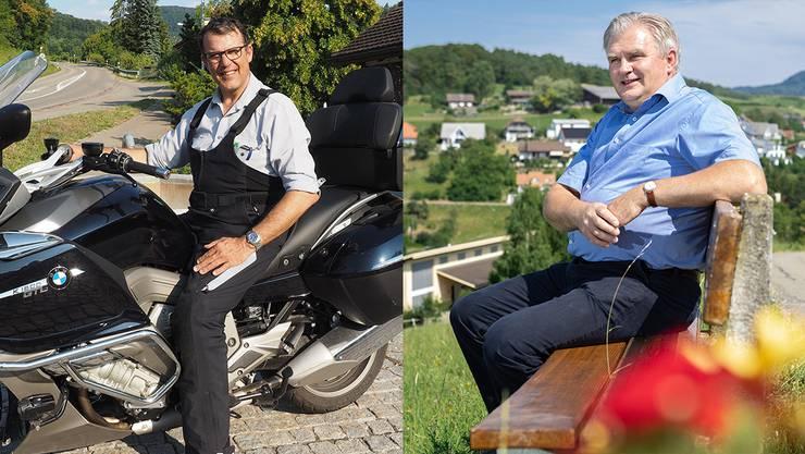 Oberhofer Gemeindeammann Roger Fricker (links) und Uekener Gemeindeammann Roland Schmid haben unterschiedliche Rückmeldungen aus Aarau erhalten.