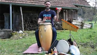 Perkussionist Dani Hächler hat in Oberkulm seinen Ruheort gefunden.