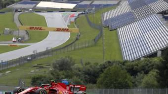Leere Tribünen in Spielberg: Ferrari-Fahrer Charles Leclerc auf der Strecke
