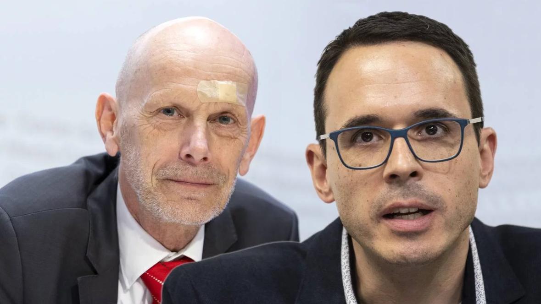 Stefan Kuster (rechts) tritt beim BAG in grosse Fussstapfen: Daniel Koch leitete die Abteilung Übertragbare Krankheiten zwölf Jahre lang.