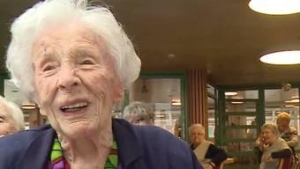 Die Aarauerin Klara Schöner blickt an ihrem 105. Geburtstag zurück auf ihr Leben. Dieses verbrachte sie von Geburt an bis heute stets in Aarau.