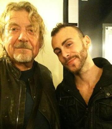 Mit dem grossen Vorbild Robert Plant.
