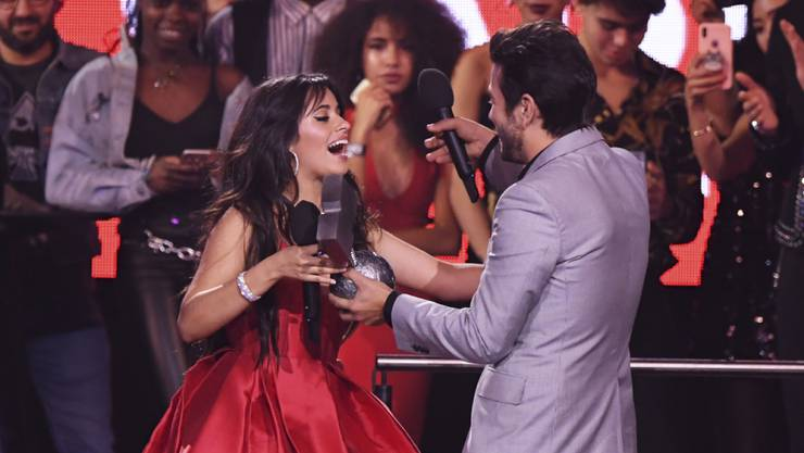 Camila Cabello ist die grosse Siegerin bei den  MTV Europe Music Awards 2018 in Bilbao. (Foto: Stuart C. Wilson, pool photo via AP)