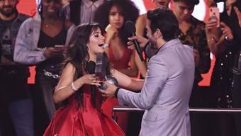 Camila Cabello ist die grosse Siegerin bei den  MTV Europe Music Awards 2018 in Bilbao. (Foto: Stuart C. Wilson, pool photo via AP)