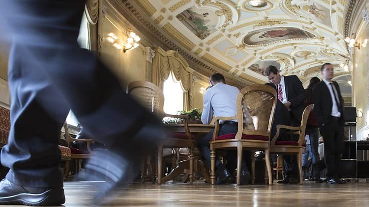 Die Wandelhalle des Bundeshauses ist das Tummelfeld der Lobbyisten. (Archiv)