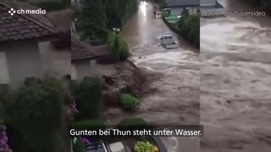 Starke Regenfälle sorgen für Überschwemmungen