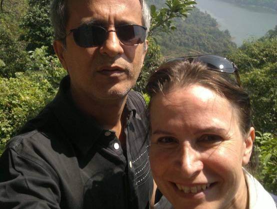 Können sich seit Monaten nicht sehen: Esther Tschudi und ihr Mann.