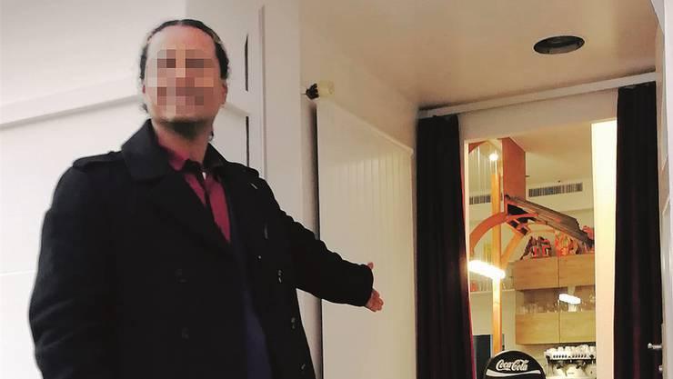 Hereinspaziert! William W. suchte mit diesem Bild nach Kundschaft für sein neues Restaurant in Olten. Kurz nachdem er es eröffnet hatte, wurde er verhaftet.