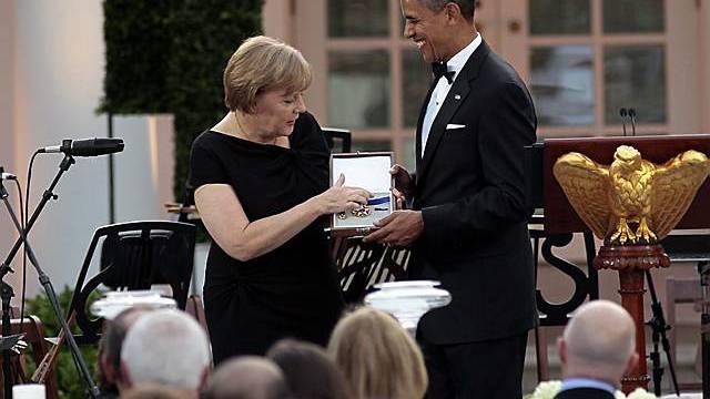 Freiheitsmedaille für Merkel