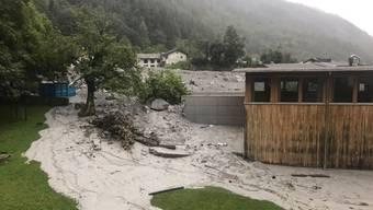 Erneuter Murgang nach Dauerregen in Bondo (1. September 2017)