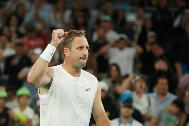 Tennys Sandgren fordert in den Viertelfinals der Australian Open Federer.