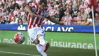 Xherdan Shaqiri verletzte sich im Spiel zwischen Stoke City und Bournemouth (2:1) am Oberschenkel.