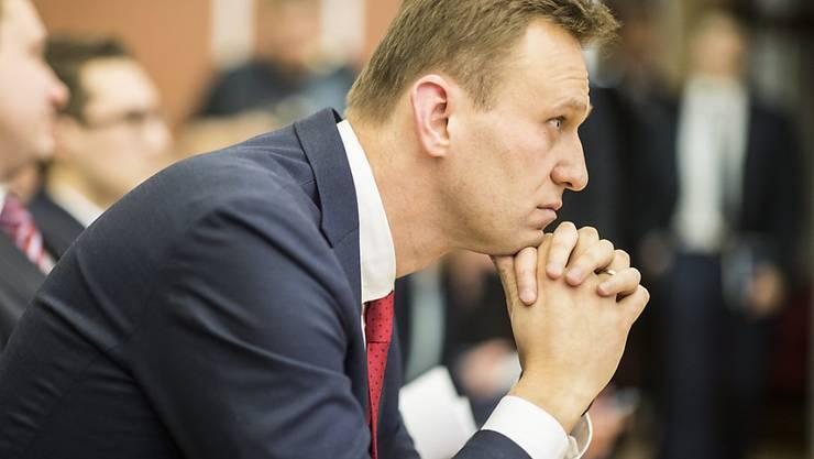 Alexej Nawalny will wegen seines Ausschlusses von der Präsidentenwahl nach der Ausschöpfung der russischen Rechtswege nun an den Europäischen Gerichtshof für Menschenrechte gelangen
