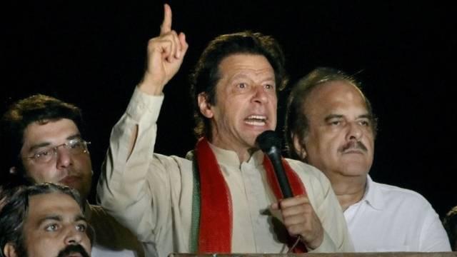 Der pakistanische Oppositionspolitiker Imran Khan (Archiv)