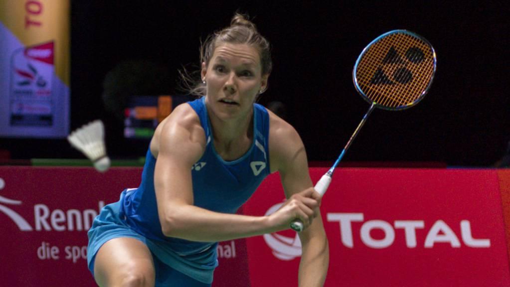 Out in der 1. Runde. Sabrina Jaquet verpasst am Swiss Open in Basel die Chance, sich mit der Olympiasiegerin zu duellieren