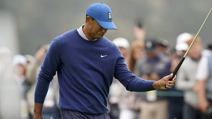 Tiger Woods - hier nach einem Fehlschlag auf dem Green frustriert